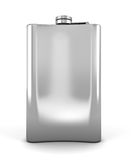 Stainless hip flask  on a white background Royalty Free Stock Images