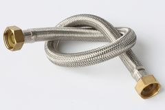 Stainless hose Royalty Free Stock Photography