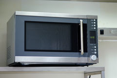 Stainless microwave oven Stock Photo