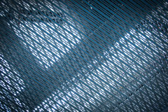 Stainless net blue architexture Royalty Free Stock Images