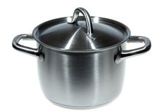 Stainless pan Stock Images