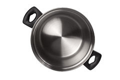 Stainless pan. Isolated on white background Royalty Free Stock Images