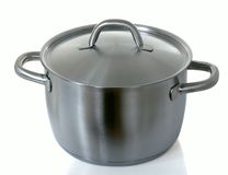 Stainless pan Stock Photo