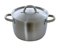 Stainless pan Stock Image