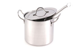 Stainless pan. Royalty Free Stock Photo