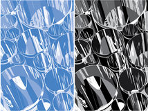 Stainless pipe abstract background, vector illustration Royalty Free Stock Photography