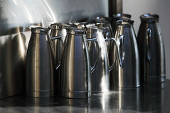 Stainless pitchers Royalty Free Stock Image