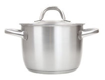 Stainless pot Stock Image