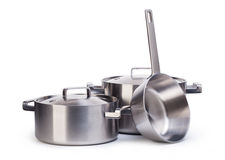 Stainless pots Stock Photos
