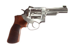 Stainless revolver Royalty Free Stock Images