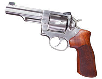 Stainless revolver Royalty Free Stock Image