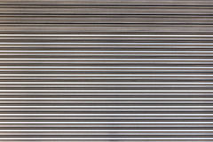 Stainless roller door. Royalty Free Stock Photos