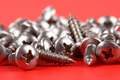 Stainless self-tapping screws Royalty Free Stock Image