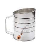 Stainless Sifter with a Crank Royalty Free Stock Photography