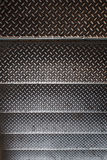 Stainless stair texture Royalty Free Stock Photo