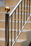 Stainless staircase Stock Photo