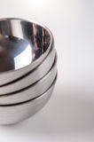 Stainless steal bowls Stock Photo