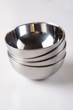 Stainless steal bowls Royalty Free Stock Photos