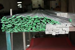 Stainless steel bar Stock Photography