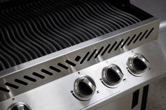 Stainless Steel Barbecue. Grill closeup Stock Images