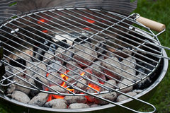 Stainless steel barbecue grill Royalty Free Stock Photo