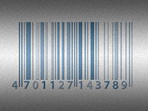 Stainless steel barcode Stock Photo