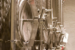 Stainless steel barrel Stock Photos
