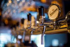 Stainless Steel Beer Dispenser Royalty Free Stock Photos