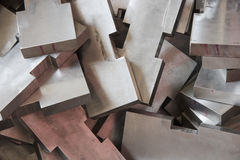 Stainless steel blocks Stock Photos