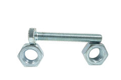 Stainless steel bolt and nut Stock Photo