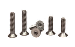 Stainless steel bolts Royalty Free Stock Photography