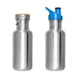 Stainless Steel Bottles Stock Images