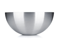 Stainless steel bowl Royalty Free Stock Images