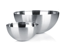 Stainless steel bowl Royalty Free Stock Photo