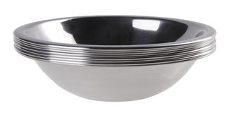 Stainless steel bowls Stock Photography