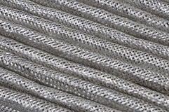 Stainless steel braid Royalty Free Stock Images