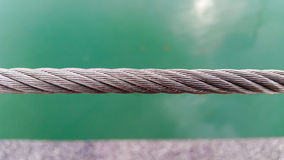 Stainless steel cable at Ao Po Grand Marina Royalty Free Stock Photography