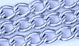Stainless steel chains macro shot Royalty Free Stock Image