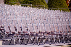 Stainless steel chair Royalty Free Stock Images