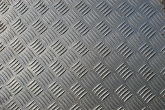 Stainless steel checkerplate Royalty Free Stock Photo