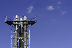 Stainless steel chimneys Royalty Free Stock Images