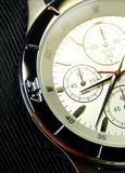The stainless steel of chronograph watch Stock Photos
