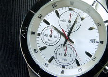 The stainless steel of chronograph watch Royalty Free Stock Image