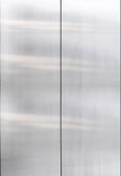 Stainless steel, closed metal door detail, interior Stock Photo