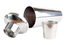 Stainless steel cocktail shaker Stock Image