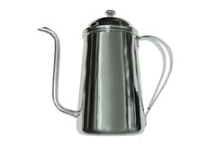 Stainless steel coffee pot Stock Images