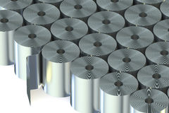 Stainless Steel Coils closeup. On white background Stock Image