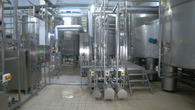 Stainless steel construction at refinery. Gasoline, gas, fuel, petroleum, production. stock video