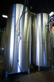Stainless Steel Containers at Oakshire Brewing Stock Photography