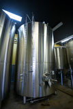 Stainless Steel Containers at Oakshire Brewing Stock Images